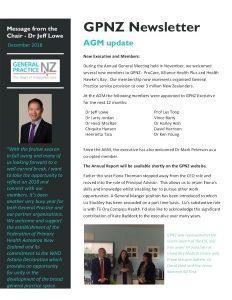 GPNZ Newsletter - December 2018